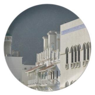 Oman, Muscat, Mutrah. Mutrah Corniche Mosque and Plate