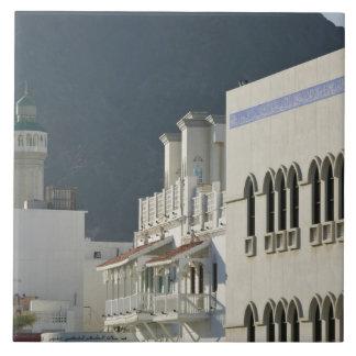 Oman, Muscat, Mutrah. Mutrah Corniche Mosque and Ceramic Tiles