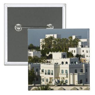Oman, Muscat, Qurm. Buildings of Qurm Area / 15 Cm Square Badge