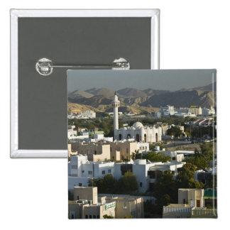 Oman, Muscat, Qurm. Buildings of Qurm Area / 2 15 Cm Square Badge