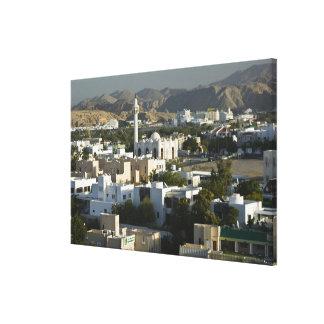Oman, Muscat, Qurm. Buildings of Qurm Area / 2 Canvas Print