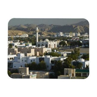 Oman, Muscat, Qurm. Buildings of Qurm Area / 2 Rectangular Photo Magnet