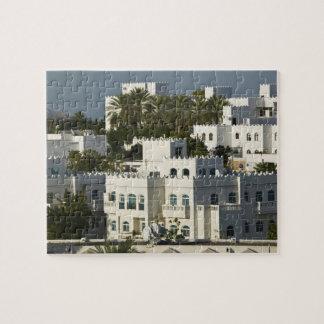 Oman, Muscat, Qurm. Buildings of Qurm Area / Jigsaw Puzzle