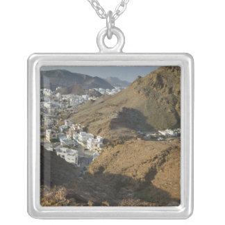 Oman, Muscat, Ruwi/Al Hamriyah. View of Ruwi / Silver Plated Necklace