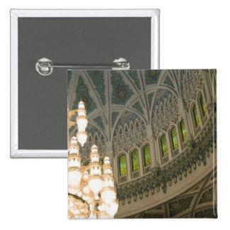 Oman, Muscat, Sultan Qaboos mosque 15 Cm Square Badge