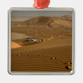 Oman, Rub Al Khali desert, driving on the dunes Christmas Ornament