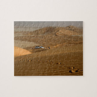 Oman, Rub Al Khali desert, driving on the dunes Jigsaw Puzzle