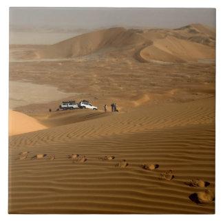 Oman, Rub Al Khali desert, driving on the dunes Tile