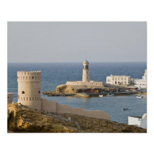 Oman, Sharqiya Region, Sur. Towers of Al Ayajh Poster
