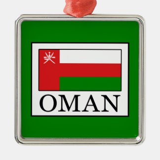 Oman Silver-Colored Square Decoration