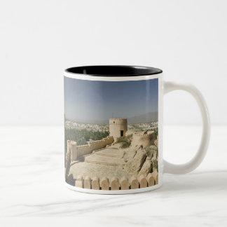Oman, The Batinah Plain, Nakhal. Nakhal Fort, at Two-Tone Coffee Mug