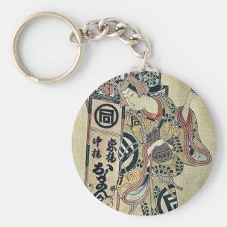 Oman the seller of cosmetics by Okumura Toshinobu Key Chains