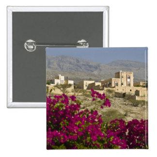 Oman, Western Hajar Mountains, Al Hamra. Town 15 Cm Square Badge
