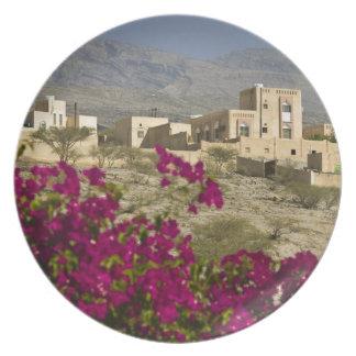 Oman, Western Hajar Mountains, Al Hamra. Town Plate