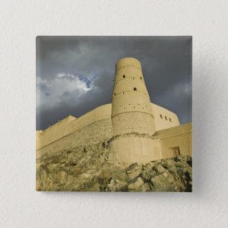 Oman, Western Hajar Mountains, Bahla. Bahla Fort 15 Cm Square Badge