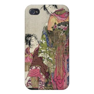 Omando – Ogie Oiyo and Takeji by Utamaro Covers For iPhone 4