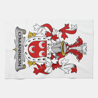O'Mannion Family Crest Hand Towel