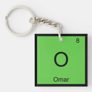 Omar Name Chemistry Element Periodic Table Key Ring