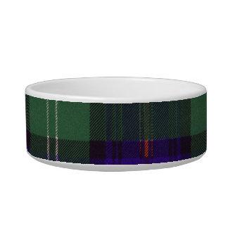 O'May clan Plaid Scottish kilt tartan Cat Bowls