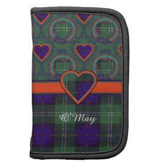 O'May clan Plaid Scottish kilt tartan Folio Planner