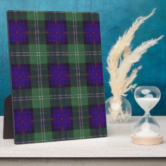 O'May clan Plaid Scottish kilt tartan Plaque