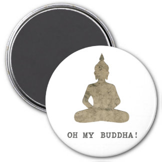 OMB Oh My Buddha Funny Silhouette 7.5 Cm Round Magnet