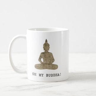 OMB Oh my buddha humour silhouette Coffee Mug