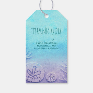 Ombre Beach Wedding Gift Tags