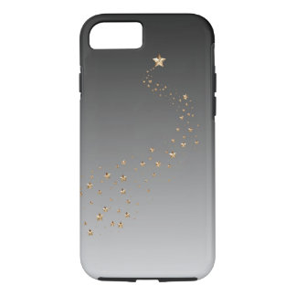 Ombre Black Gray Gold Stars Wish Shooting Star iPhone 8/7 Case