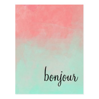 Ombre  Bonjour Postcard