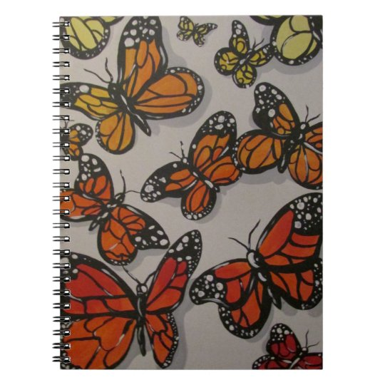 Ombré Butterflies Notebook