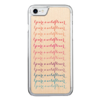 Ombre Calligraphy iPhone 6/6s Maple Carved iPhone 8/7 Case