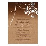 Ombre Chandelier Wedding Invitation