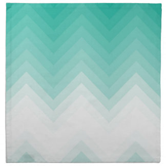 Ombre Chevron Emerald Green Gradient Napkin