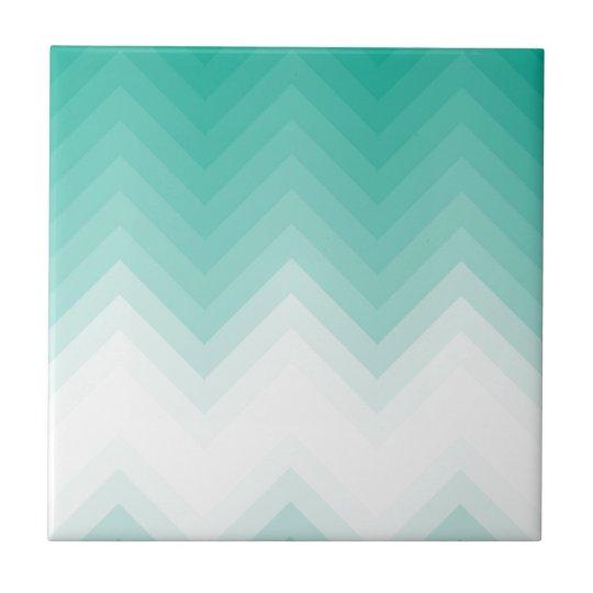 Ombre Chevron Emerald Green Tiles Gradient