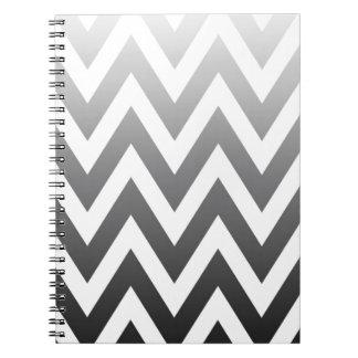Ombre Chevron Spiral Notebook
