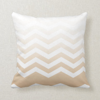 Ombre Chevron Style! blush Throw Pillow