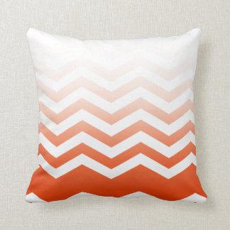 Ombre Chevron Style! coral Pillow