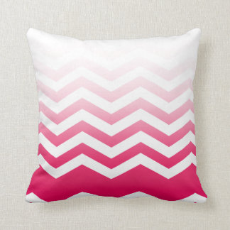 Ombre Chevron Style! hot pink Throw Pillow