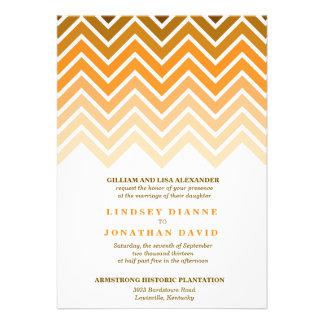 Ombre Chevron Wedding Invitation