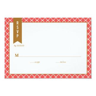 Ombre Chevron Wedding Response Card RSVP 9 Cm X 13 Cm Invitation Card