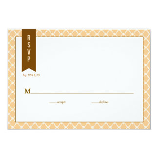 Ombre Chevron Wedding Response Card RSVP 9 Cm X 13 Cm Invitation Card
