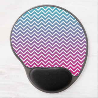 Ombrè Chevron Zigzag Stripes Gel Mouse Pad