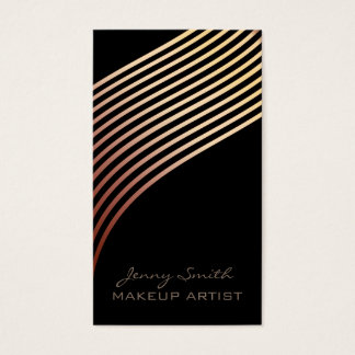 Ombre chic rose gold wavy stripesmodern luxury