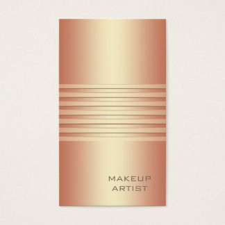 Ombre chic rose gpld stripes modern luxury business card