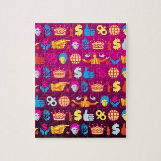 ombre donald trump jigsaw puzzle
