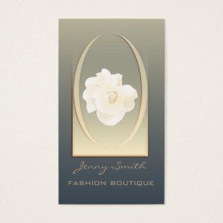 Ombre elegant modern luxury romantic rose business card