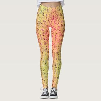 Ombre  floral  print leggings