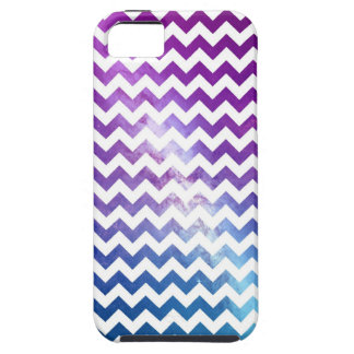 Ombre Galaxy Nebula with White Chevrons iPhone 5 Cover