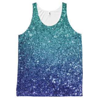 Ombre glitter sparkling All-Over print tank top